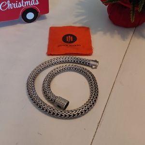 John Hardy classic snake necklace choker silve